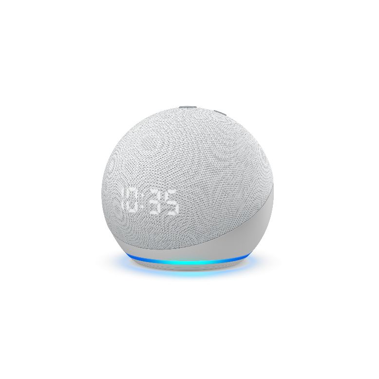 Echo-Dot-avec-horloge-white