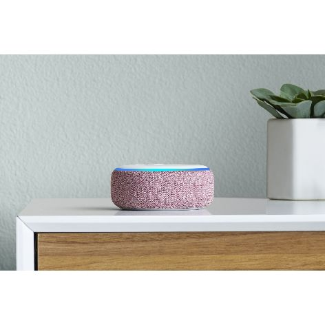 Amazon Echo Dot, Plum, on dresser.jpg