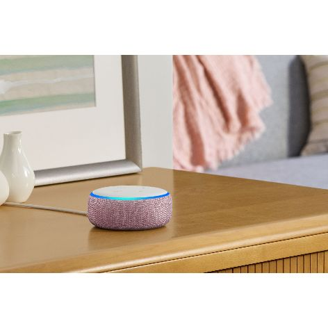 Amazon Echo Dot, Plum, on side table.jpg